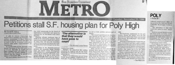 1986Nov11-SFExaminer-Poly-high-petition