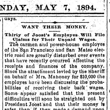 SF Chronicle, 7 May 1894.