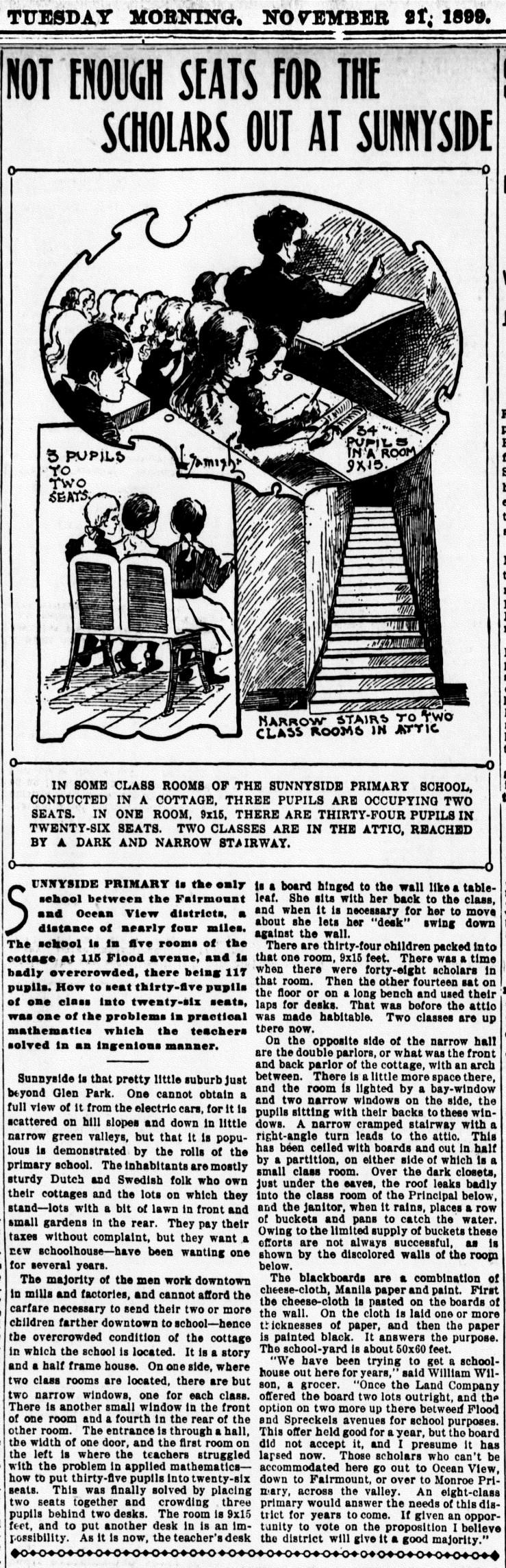 1899Nov21-Examiner-p12-Sunnyside-School-scholars