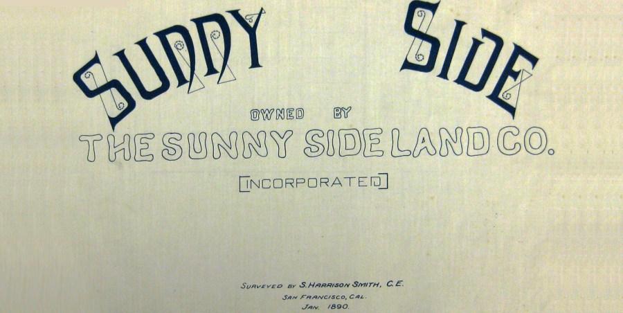 From Sunnyside Homestead map, 1891.
