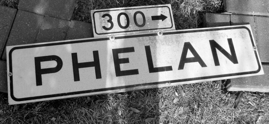 Phelan Ave street sign. Photo: Amy O'Hair