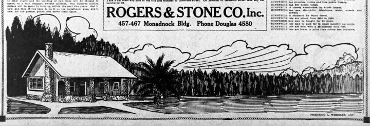 Frederic L. Wheeler, advertising-- artist for Sunnyside supplement? SF Call, 3 June 1909.