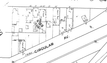 1915 Sanborn map, showing the first block of Monterey Blvd (then called Circular Ave).