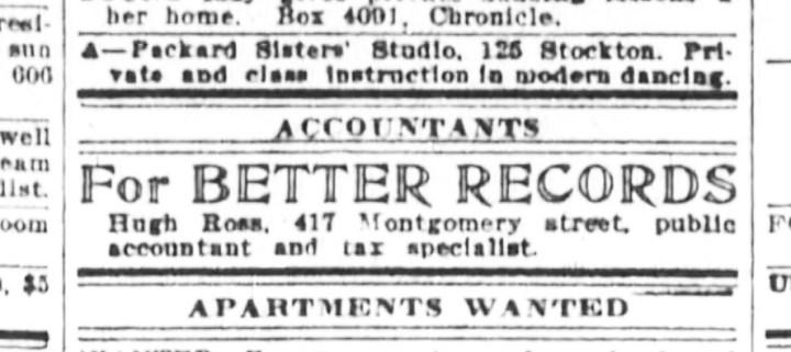 SF Examiner 23 Oct 1919.