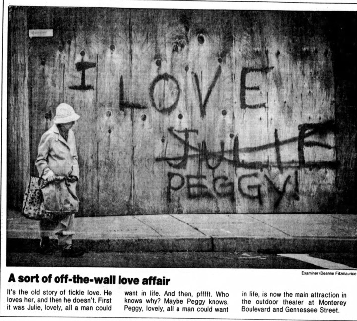 SF Examiner, 29 Aug 1985.