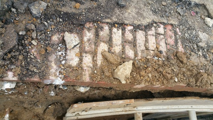 Nov 2017. Bricks under Mangels Ave. Photo: Spencer Decker