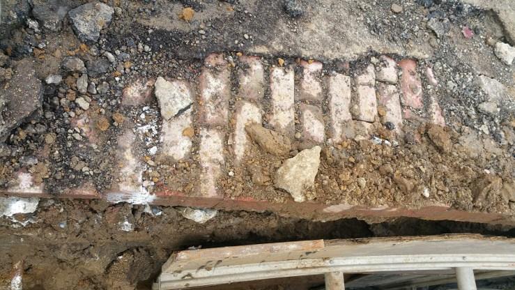 Nov 2017. Bricks under Mangels Ave. Photo: Spencer Decker