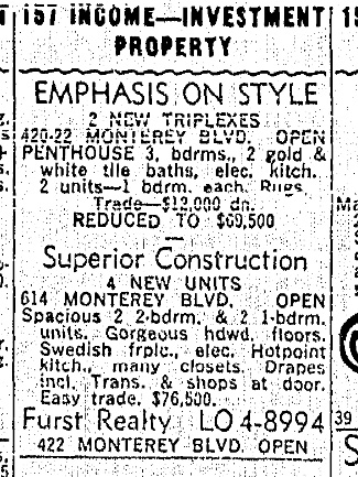 SF Chronicle, 10 Nov 1963.