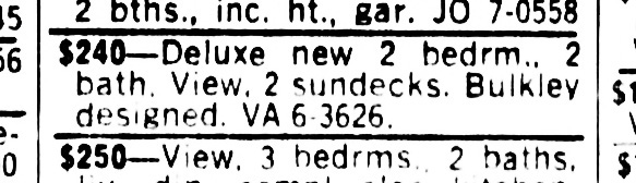 SF Examiner, 22 Apr 1964. To rent: lower unit at 375-377 Diamond St.