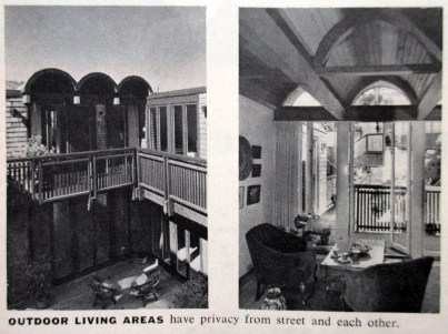 House and Home, November 1966. Images of Original appearance, 375-377 Diamond Street. Designed by Bulkley, 1963.