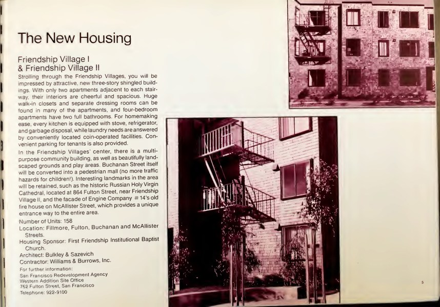 "From SF Redevelopment Agency, ""The New Western Addition is a Good Place to Live"" (1971). Archive.org."
