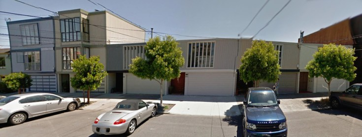 2018. A series of units, 635-665 Connecticut Street. Designed by Jonathan Bulkley in 1967. Google streetview.