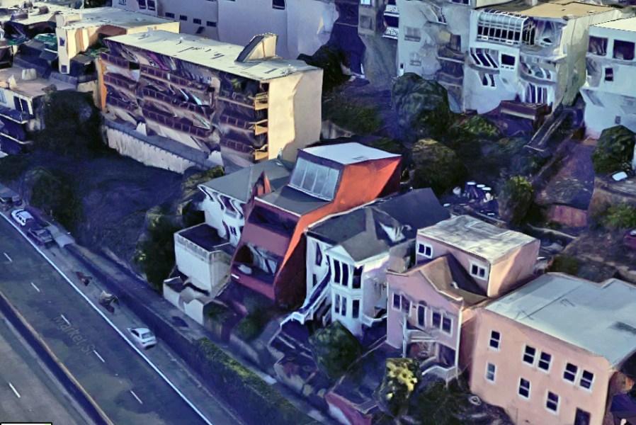 2018. Two unit building at 3406 Market Street (center), built 1968. Probably designed by Bulkley. Google satellite.