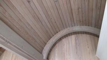 2019. Barrel-vault ceilings, interior, 420 Monterey. Photo: Amy O'Hair.