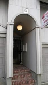 2019. Vaulted entrance at 975 Carolina Street. Photo: Amy O'Hair.
