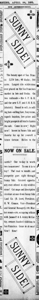 SF Examiner, 30 Apr 1891.