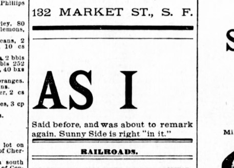 SF Examiner, 30 Aug 1891.
