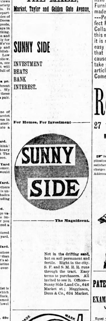 1891Aug30-b-Examiner-Sunnyside-AD
