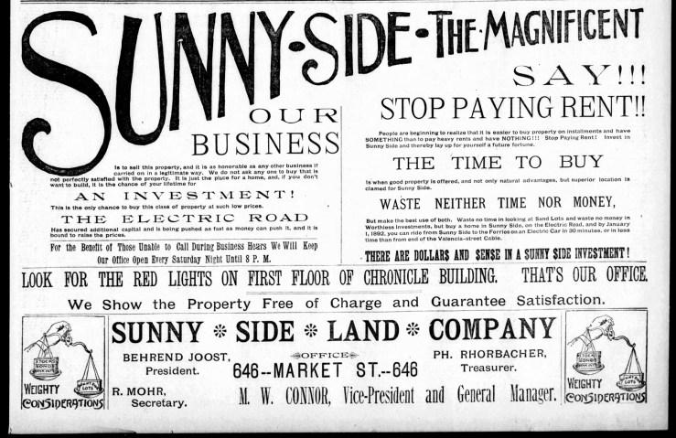 1891Dec13-Examiner-Sunnyside-halfpage-AD