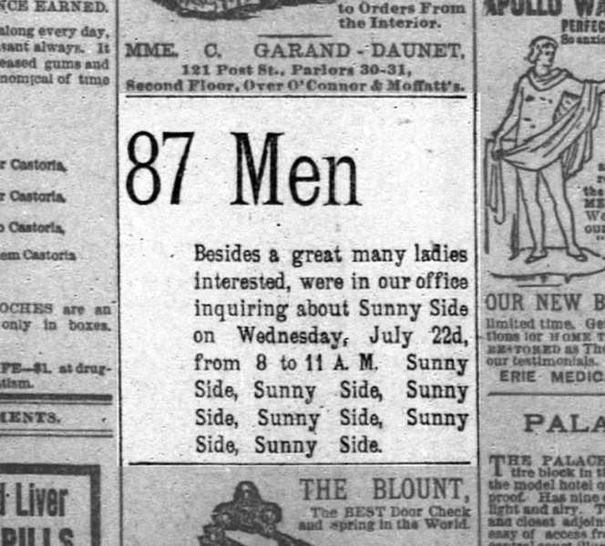 SF Chronicle, 23 Jul 1891.