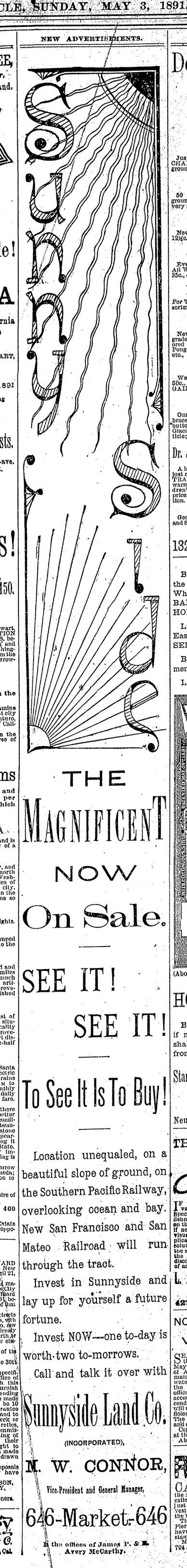 SF Chronicle, 3 May 1891.
