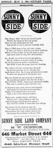 SF Call, 3 May 1891.