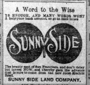 Sunglasses?? SF Chronicle, 17 May 1891.