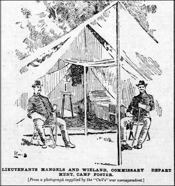 La Mangels and La Wieland. at ease with their swords. SF Call, 22 Jun 1895.