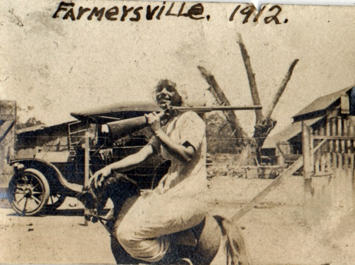 1912c. Irma Tyrrel at the Hinds Ranch in Farmersville. Courtesy Charles Reid/Ivy Reid Collection.