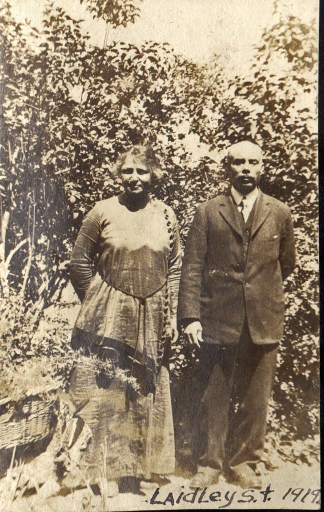 1919. Frances and Bertram Tyrrel at the Laidley Street house. Courtesy Charles Reid/Ivy Reid Collection.