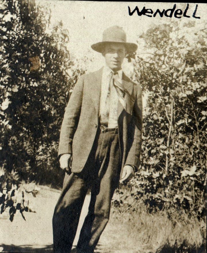 1919c. Wendell Tyrrel at the Hinds Ranch. Courtesy Charles Reid/Ivy Reid Collection.