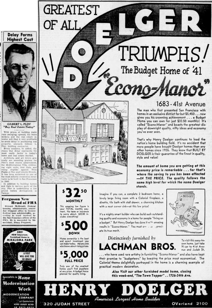 SF Examiner, 30 Nov 1940.