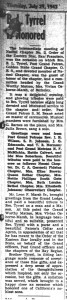 Bertram Tyrrel honored by OES Naomi Chapter. The California Eagle, 29 Jul 1949. Archive.org.