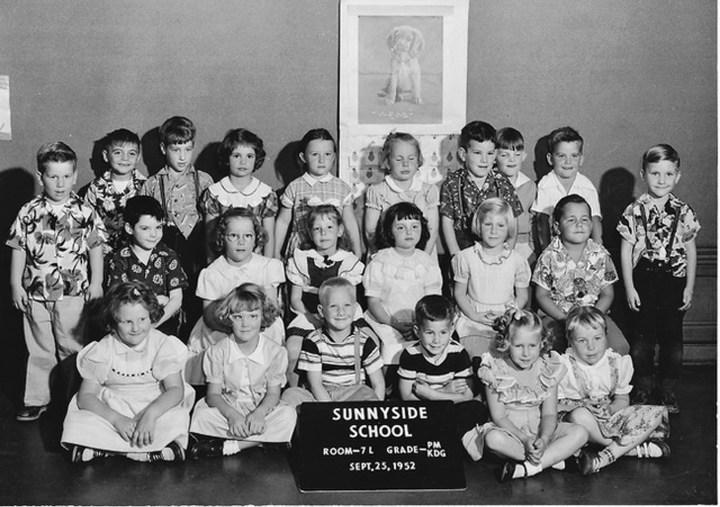 Kindergarten, Sunnyside School, 1952. Courtesy Mark Sultana.