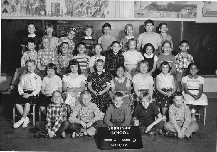 Third grade, Sunnyside School, 1955. Courtesy Mark Sultana.