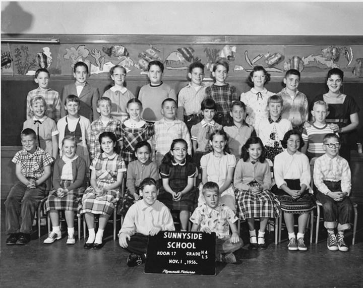 Fourth/fifth grade, Sunnyside School, 1956. Courtesy Mark Sultana.