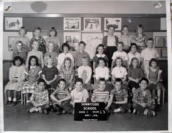 Third grade, Sunnyside School, 1956. Courtesy Greg Gaar.