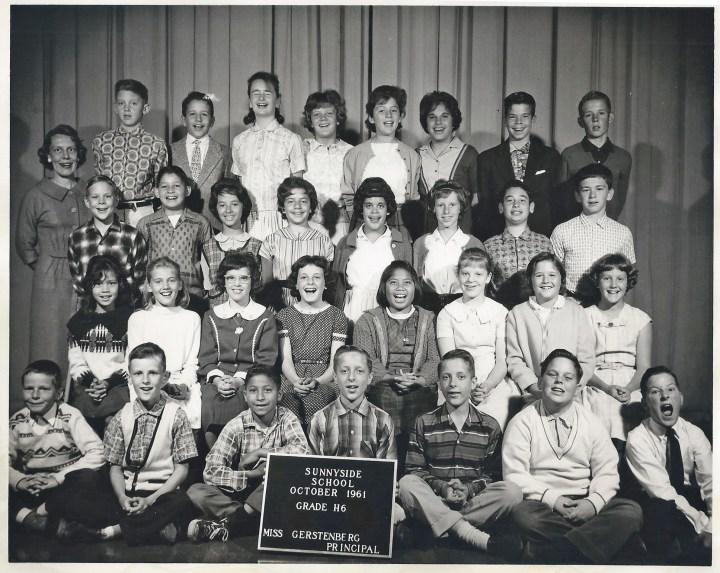 Sixth grade, Sunnyside Elementary School, 1961. Courtesy Julie Spalasso Vozza.