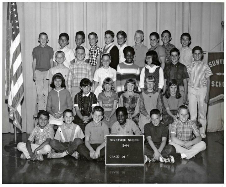 Sixth grade, Sunnyside Elementary School, 1964. Courtesy Marty Hackett.
