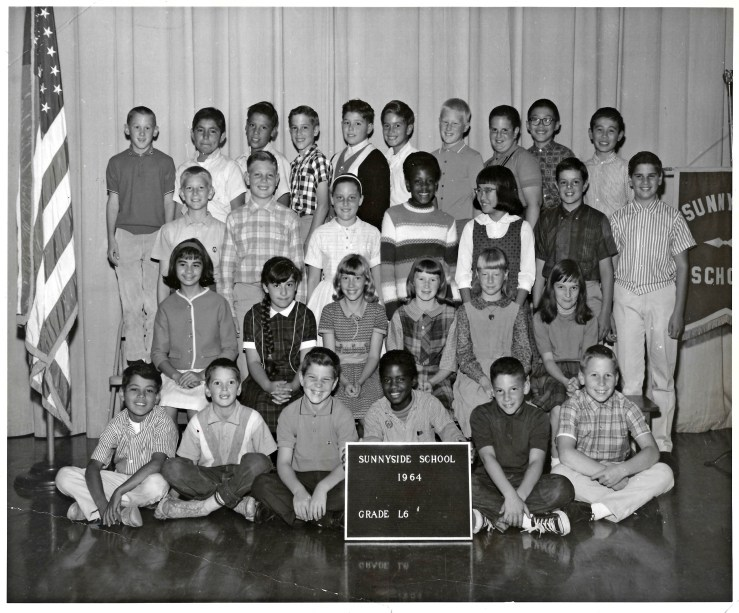 Sixth grade, Sunnyside Elementary School, 1964. Courtesy Marty Hackett.