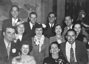 About 1950. Six Chipps children and their spouses, at a fancy club or restaurant. Ancestry.com.