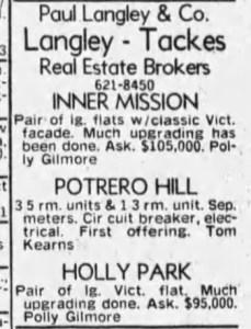 SF Examiner, 23 Sep 1978.