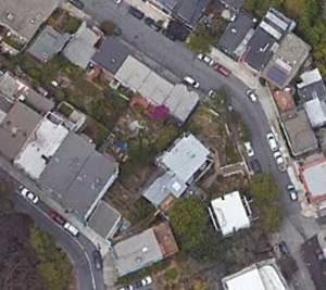 Recent google earth aerial photo of area around Poole-Bell House.
