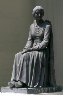 Statue of Evangeline, St Martinville, Louisiana. Wikimedia.org