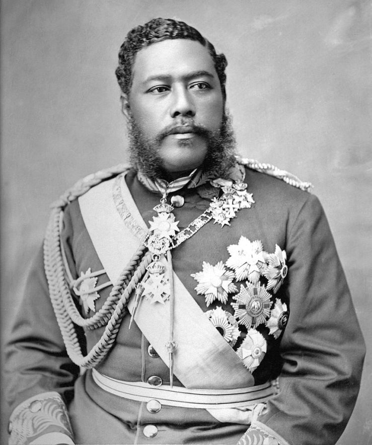 1875c. King David Kalakaua, of Hawaii. Wikimedia.org