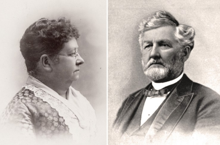 1887. Mary Winslow Staples and David Jackson Staples. Courtesy Society of California Pioneers.