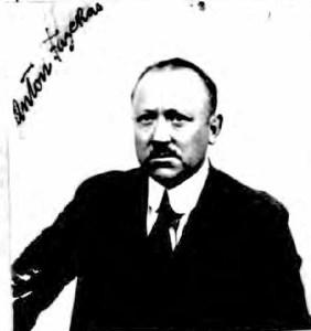 1924. Anton Fazekas, passport photo. Ancestry.com