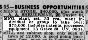 SF Examiner, 12 May 1946.