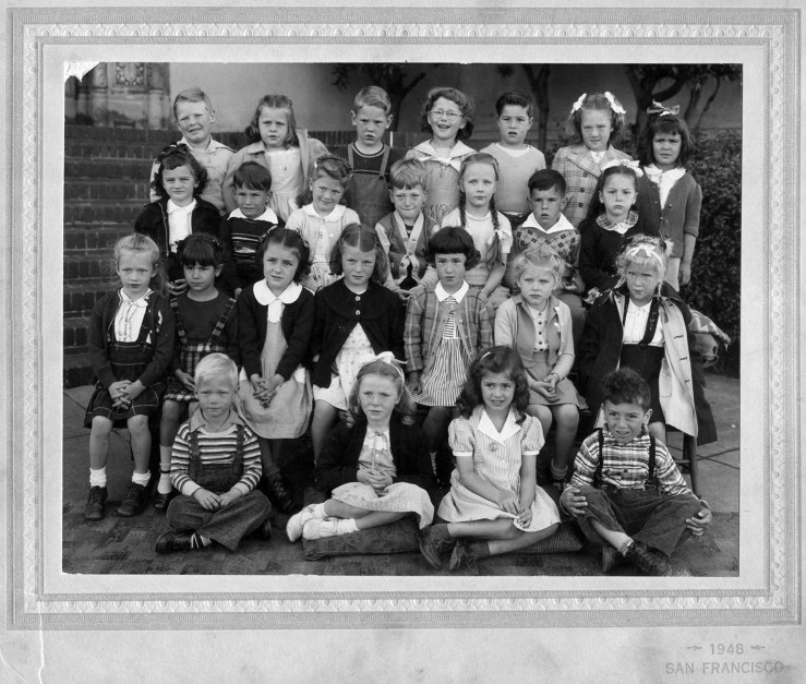 Kindergarten, Sunnyside Elementary School, 1948. Courtesy Alan Hansen.