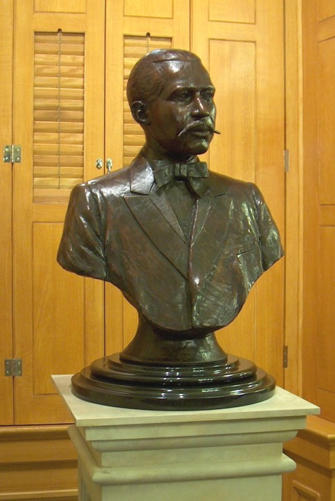 Bust of George Washington Williams at the Ohio State. Sculptor: Ed Dwight.